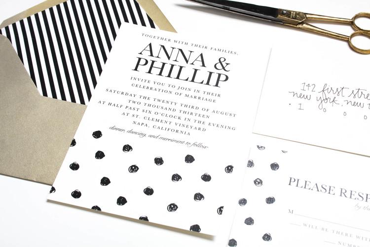 Athens Invitations Polka Dot